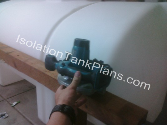 Cutting the float tank