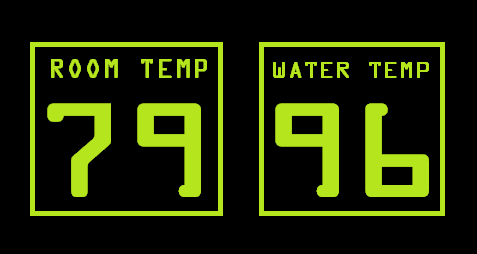 water and air temperature on isolation tank