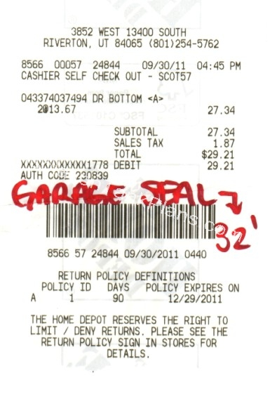 Receipt for your float tank plans step SEAL