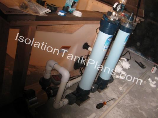 module finish on flotation tank