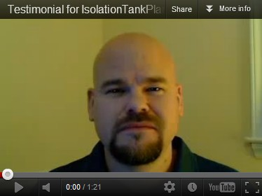 testimonial about the float tank quality plans online at IsolationTankPlans.com